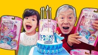 겨울왕국 엘사 아이스크림 생일 케잌 팔찌 트위스티펫 만들기 놀이 Frozen Elsa Ice Cream Cake ✨ Princess Elsa- 로미유 스토리 Romiyu Story