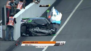 Blancpain GT Series Asia 2017. Race 1 Sepang International Circuit. Start Hard Crash