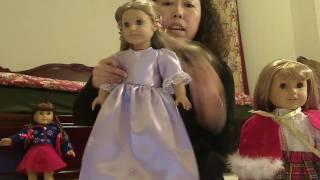 American Girl Doll Purple Dress Show N Tell.wmv