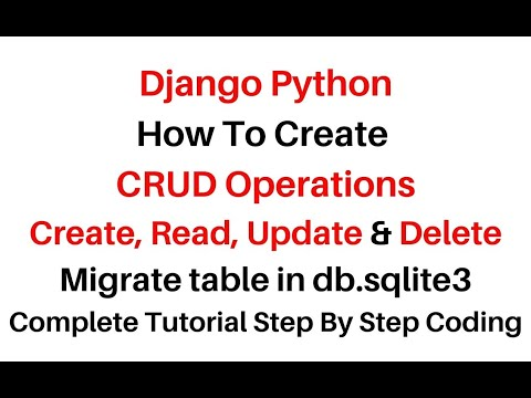 Django CRUD Operations Example With Migrate Table Db.sqlite3
