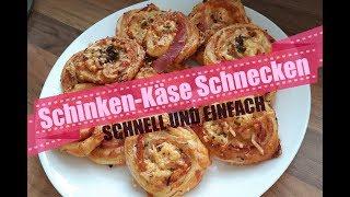 Schinken-Käse Schnecken Rezept | Schnell & Einfach | MissBeautyElli