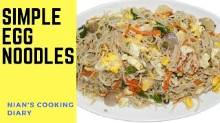 Simple Egg Noodles Recipe | Easy Vegetables Hakka Noodles | Egg Veg Stir Fry Noodles | Street Food