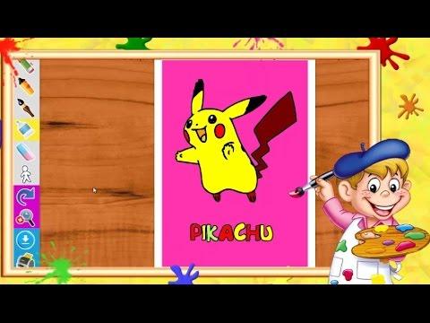 Coloriage pok mon pikachu i coloriages pour enfants youtube - Coloriage youtube ...