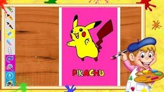 """Coloriage Pokémon """"Pikachu"""" I Coloriages pour enfants"""