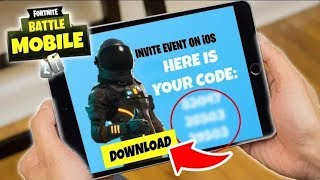 HOW TO DOWNLOAD FORTNITE MOBILE GAME!! IOS & ANDROID & TABLET APP BETA INVITE CODE