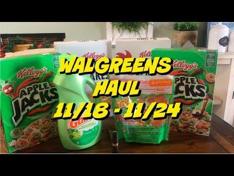 WALGREENS HAUL 11/18 - 11/24 | 7 ITEMS FOR $3.93