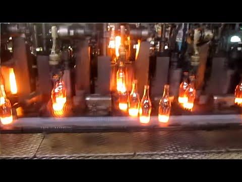 Как делают стеклянные бутылки | Стекольный завод