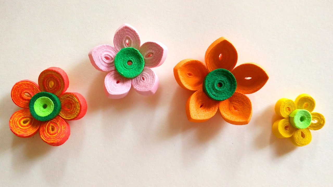 How To Make A Paper Art Quilling Flower Youtube