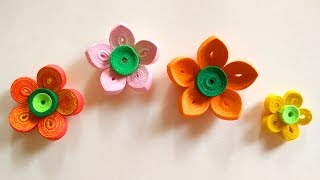 How To Make A Paper Art Quilling Flower