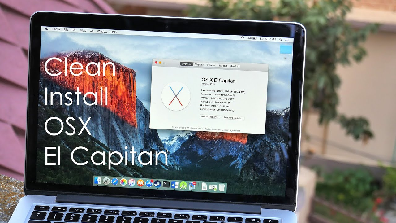 Hard Reset Your Macbook (os X El Capitan)  Youtube