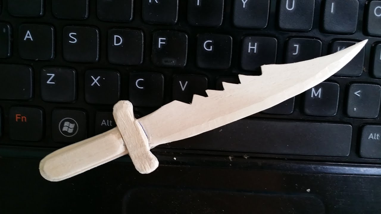 Comment faire un couteau de combat en utilisant des b tons de popsicle youtube - Comment bien aiguiser un couteau ...
