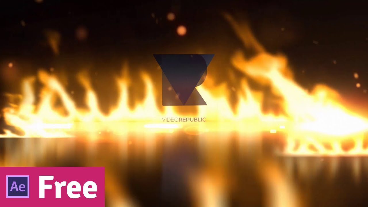 FREE intro template - Fire Logo Reveal