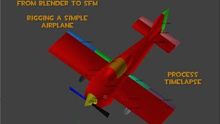 Blender to SFM - Rigging a Simple Airplane - Intro - TimeLapse