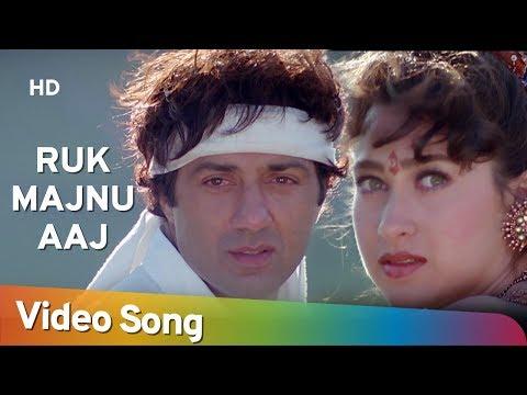 Ruk Majnu Aaj Mera Dil Tod Ke Jaa Kal Pad - Ajay Songs - Sunny Deol - Karishma Kapoor - Kumar & Alka