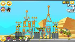 Angry Birds Seasons Power up test site and Trick or Treat All levels