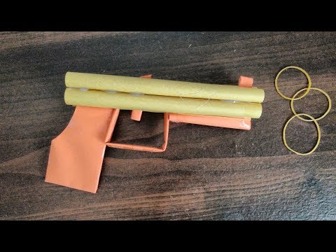 How to make a powerful paper gun that shoots rubber bands and hurts easy