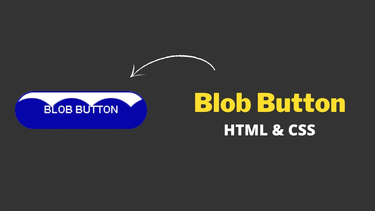 CSS Blob Button Hover Animation Effects using HTML & CSS