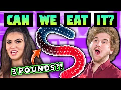 Can We Eat the Largest Gummy Worm in the World? (Challenge Chalice)