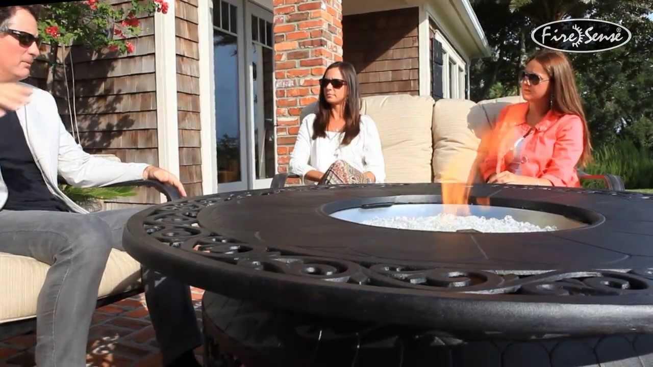 Fire Sense Cast Aluminum LPG Fire Pit Item  61168  YouTube