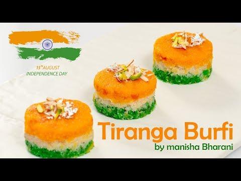 Tiranga Burfi India Independence Day Special Barfi Sweet Recipe By Manisha Bharani तिरंगा बर्फी