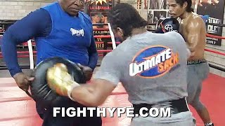 SHAWN PORTER BLASTING PADS FOR CRAWFORD OR WHOEVER WANTS NEXT; SHARPSHOOTING IN SYNC TO STAY READY