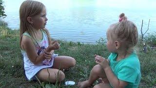 Николь , папа, мама и сестричка на рыбалке !