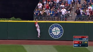 Trout robs a grand slam with amazing catch