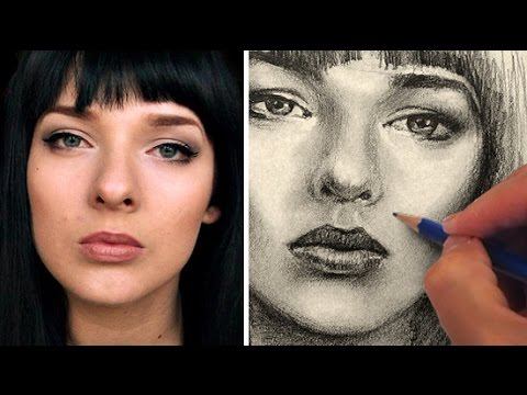 how to draw pretty eyes on face