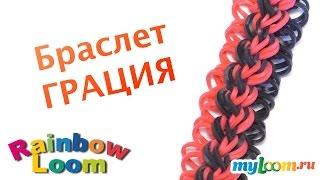 Браслет ГРАЦИЯ из резинок Rainbow Loom bands. Урок 346 | Bracelet Rainbow Loom