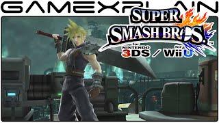 Cloud REVEALED for Super Smash Bros. Wii U & 3DS (High Quality!)