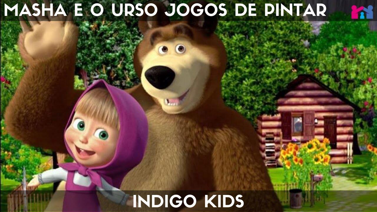 Masha E O Urso Jogos De Pintar Indigo Kids Youtube