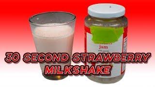 FAST 30 Second Strawberry Milkshake Recipe