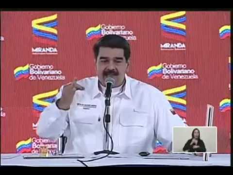"""Maduro compara en gráficos """"ayuda humanitaria"""" de Guaidó vs CLAP de su gobierno"""