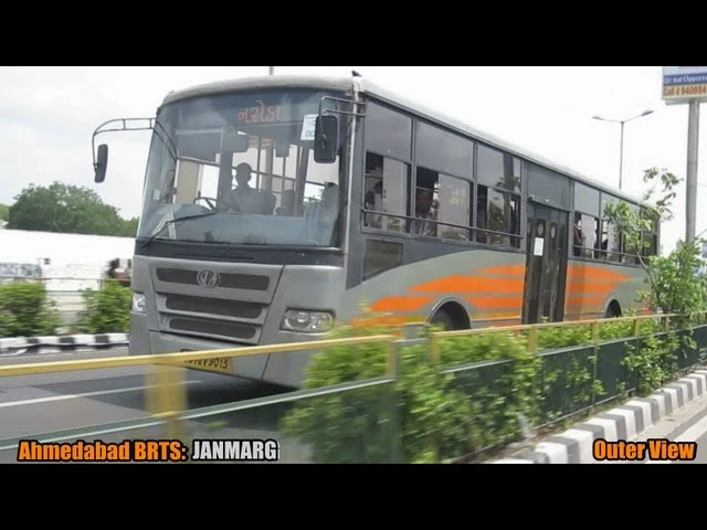World's Best: Ahmedabad BRTS- JANMARG in Gujarat, India! Travel Video