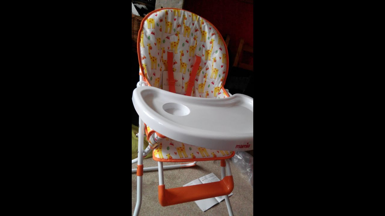 Aldi Mamia Compact Highchair Recline And Grow Baby Feeding Chair Unboxing