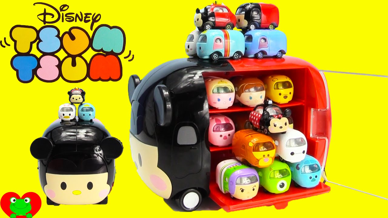 Disney Tsum Tsum Motors With Mickey Mouse Storage Case   YouTube