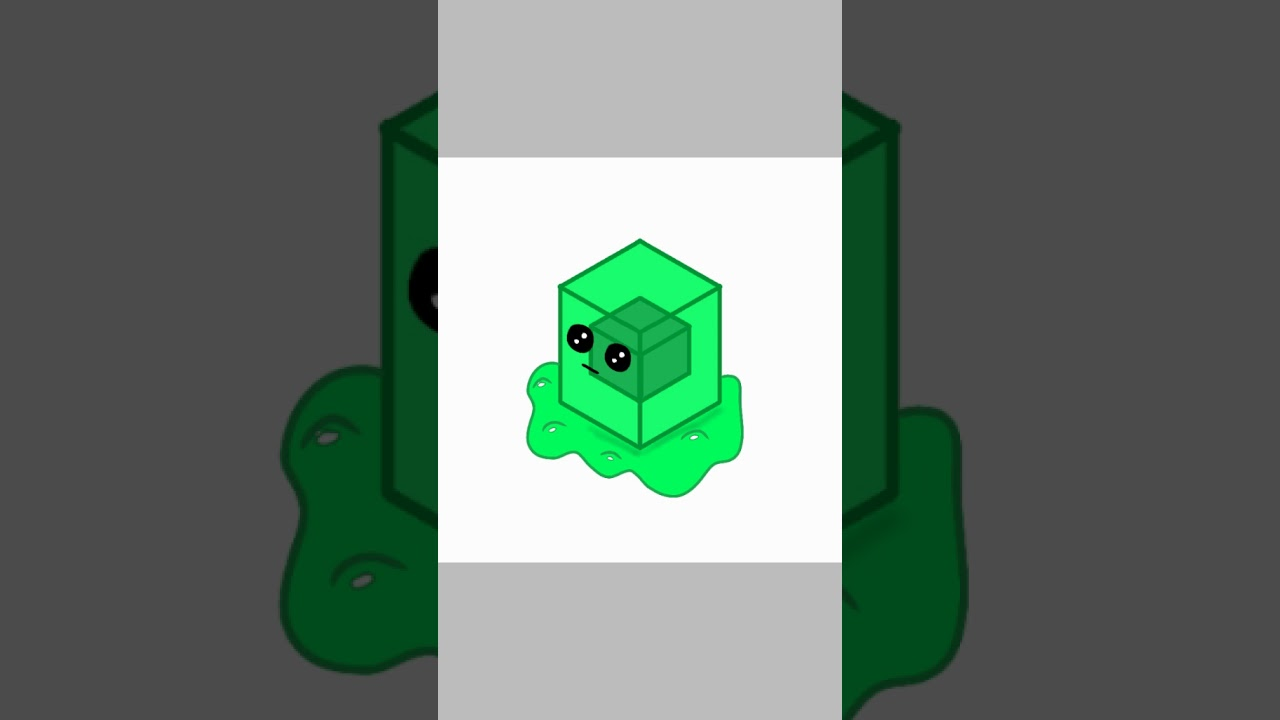 Dessin Slime Minecraft Youtube