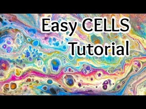6 Fluid Acrylic Cells Every Time Easy Dirty Pour Painting