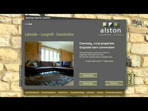 Alston Country Homes   web design