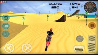 Racing Moto Beach Jumping Games / Race Motocross Bike / Android Gameplay FHD