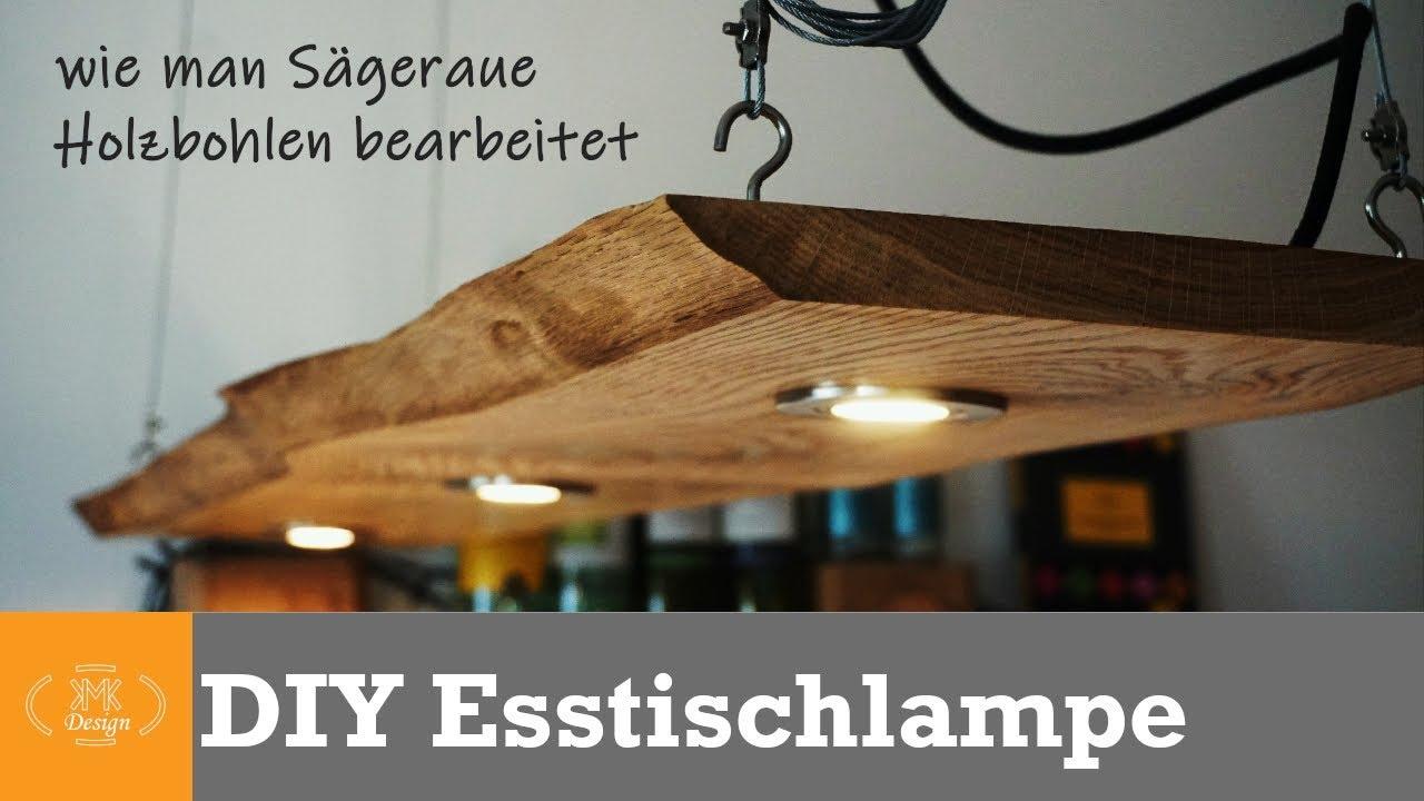 Diy Designer Lampe Esstischlampe Aus Massiver Eiche Selber