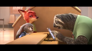 Zootopia: Meet the Sloth. HD ( DMV Scene)