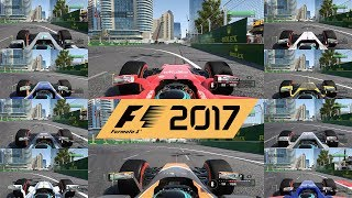 F1 2017 top speed test - what's fastest car in the game?