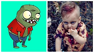 Zombies in Real Life | All Characters Plants vs. Zombies.