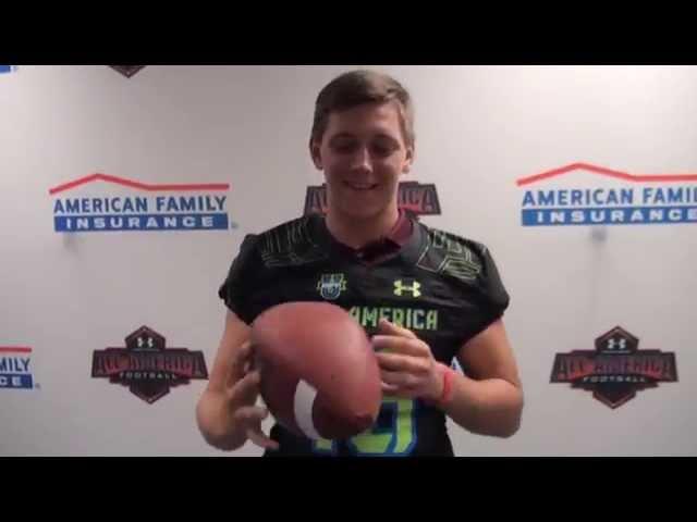 Braden Mann 2016 Topps Under Armour All America Football Card Texas A/&M Aggies