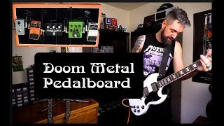 Doom Metal Pedalboard - Small and Compact