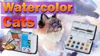 Рисуем котов акварелью / Paint cats in watercolor