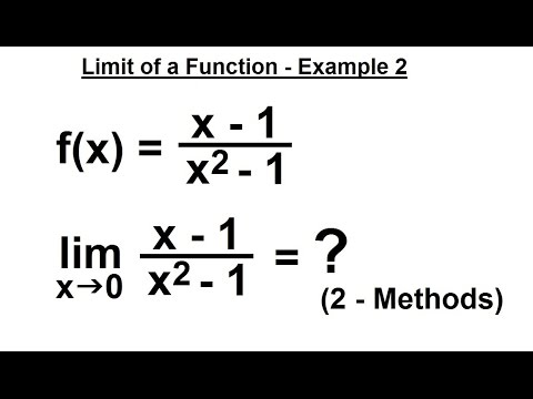 Calculus 1: Limits & Derivatives (7 of 27) Finding the Limit of a Function - Example 2