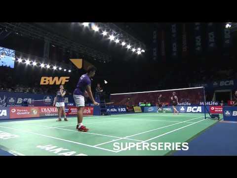 BCA Indonesia Open 2015 | Badminton R16 M5-XD | Jordan/Susanto vs  Nielsen/Pedersen