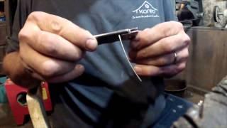 Fabrication couteau tole pliée